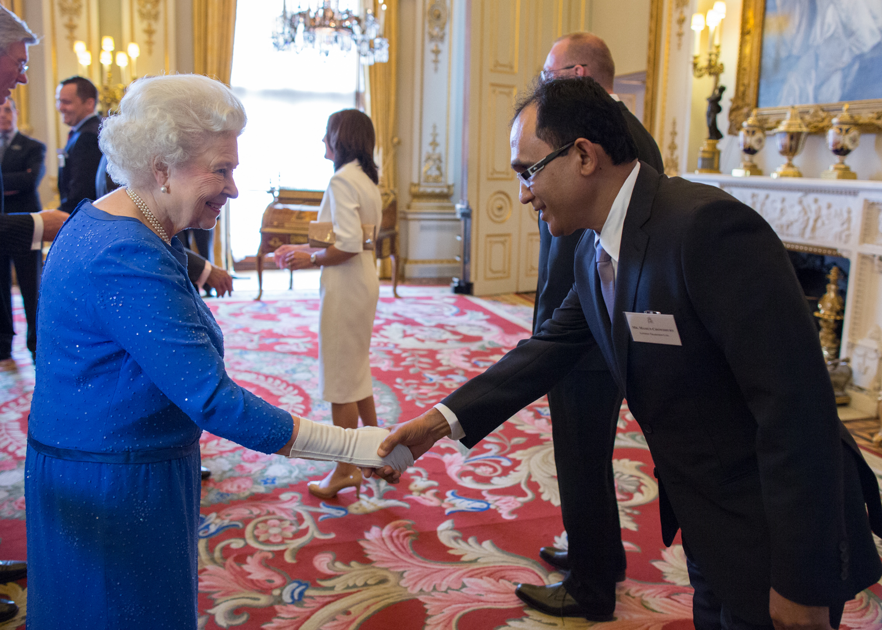 Mamun Chowdhury with the Queen